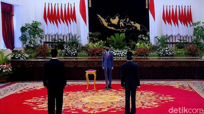 Jokowi lantik Kepala BNN dan Kepala BRG (Andhika/detikcom)