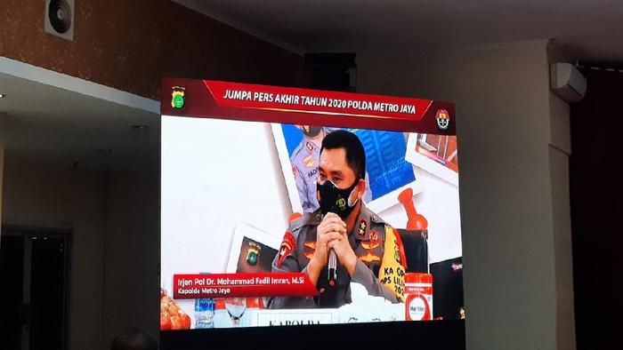 Kapolda Metro Jaya Irjen Fadil Imran menggelar jumpa pers akhir tahun 2020