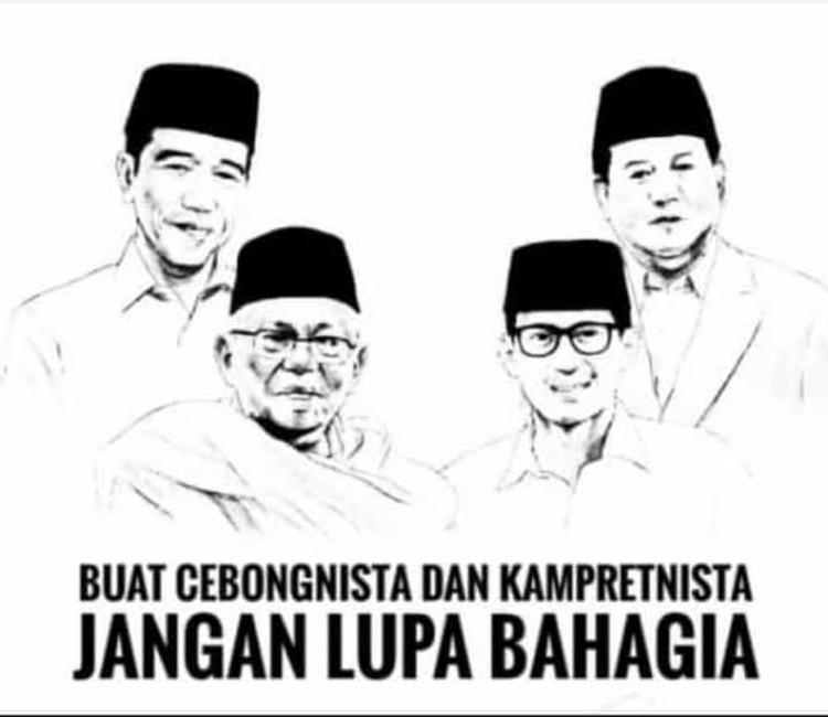 Meme Happy Ending Jokowi - Prabowo