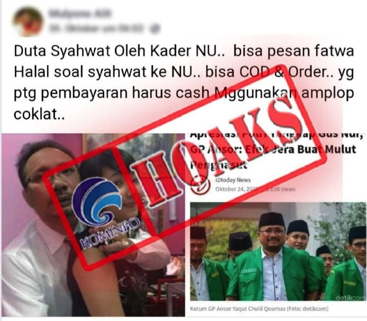 Menag Yaqut Cholil Jadi Sasaran Hoax