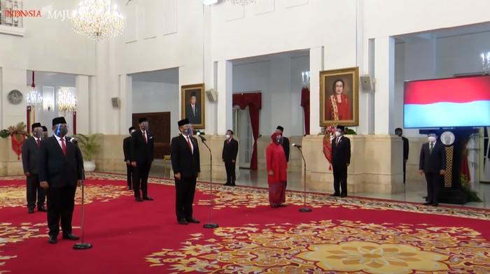 Momen Pelantikan Menteri dan Wakil Menteri Baru