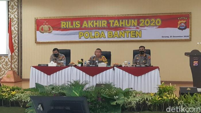 Polda Banten Rilis Akhir Tahun 2020
