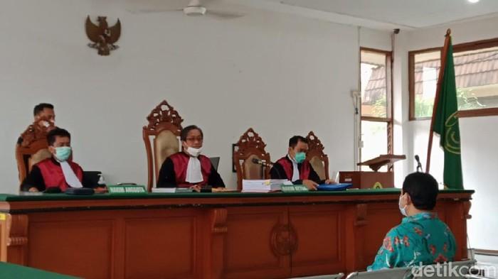 Suasana sidang eks Bupati Bogor Rachmat Yasin.