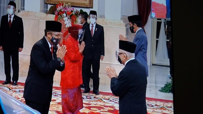 Tri Rismaharini atau Risma saat dilantik jadi Mensos (Foto: Andhika/detikcom)