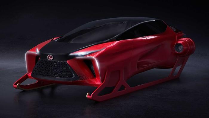 Lexus mengganti kereta luncur Sinterklas dengan mobil konsep ini.