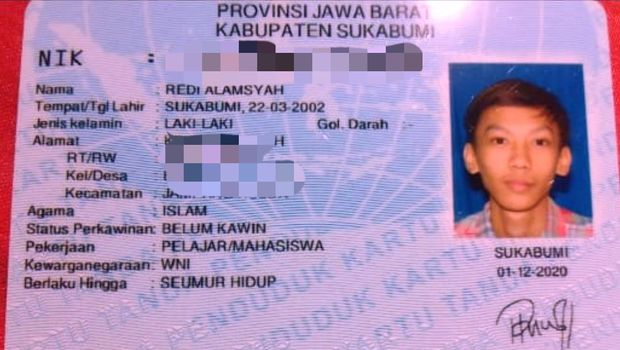 KTP Asli Pria Sukabumi