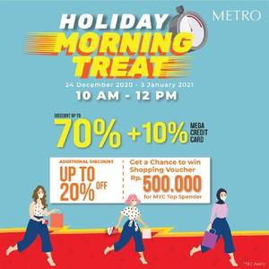 Belanja Pagi Hari di Metro Department Store, Bisa Dapat Diskon Hingga 70%