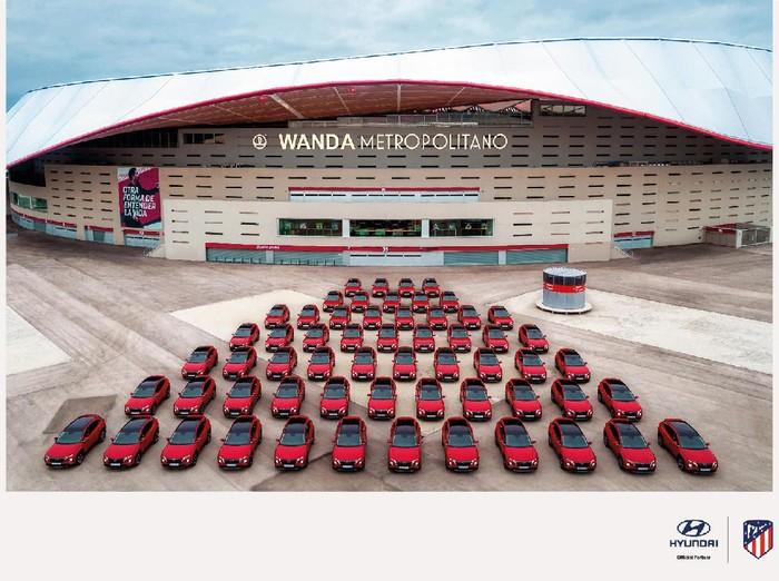 Hyundai berikan Tucson gratis ke semua pemain Atletico Madrid.