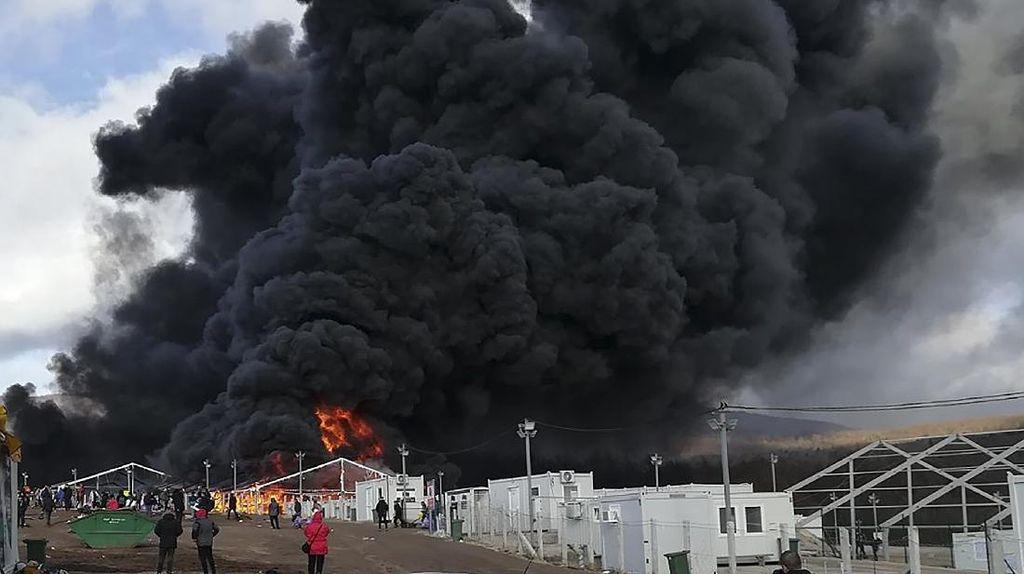 Kamp Imigran di Bosnia Terbakar, Tak Ada Korban Jiwa