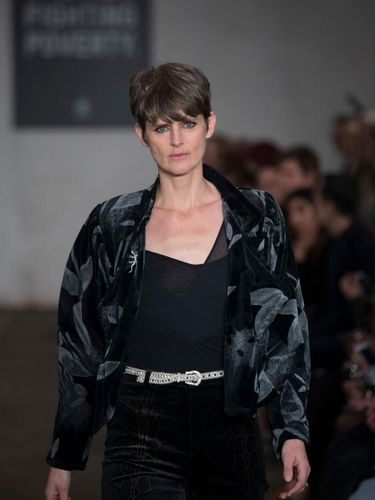 PARIS, FRANCE - SEPTEMBER 24: Stella Tennant walks the runway during the Saint Laurent Womenswear Spring/Summer 2020 show as part of Paris Fashion Week on September 24, 2019 in Paris, France. (Photo by Pascal Le Segretain/Getty Images)