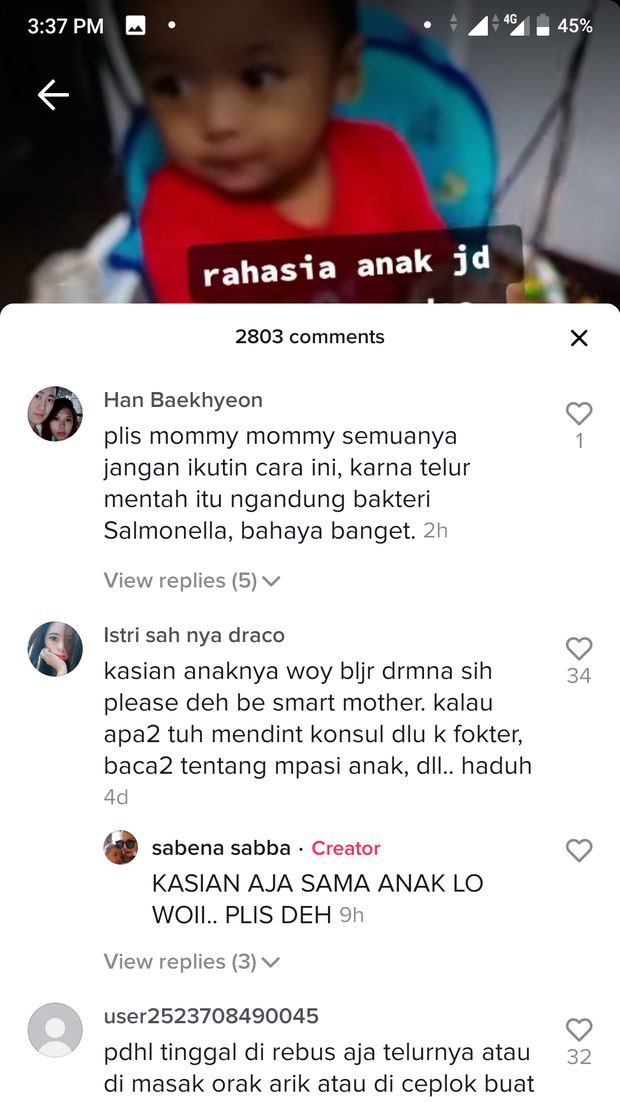 Berikan Telur Mentah Pada Bayi, Ibu Ini Dihujat Netizen