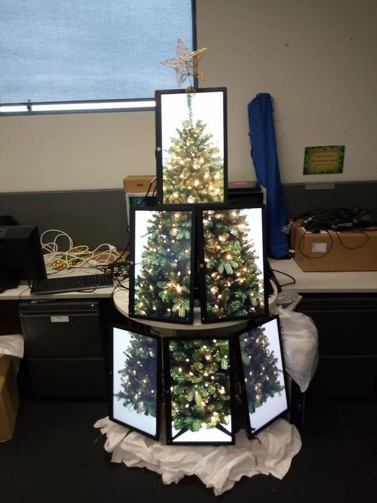 fotoinet pohon natal kreatif