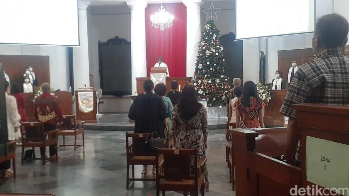 Ibadat Natal di GPIB Immanuel, Jakarta. (Afzal Nur Iman/detikcom)