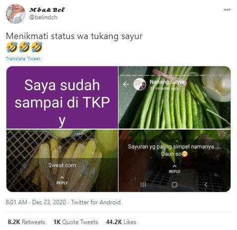Status WA Lucu Tukang Sayur