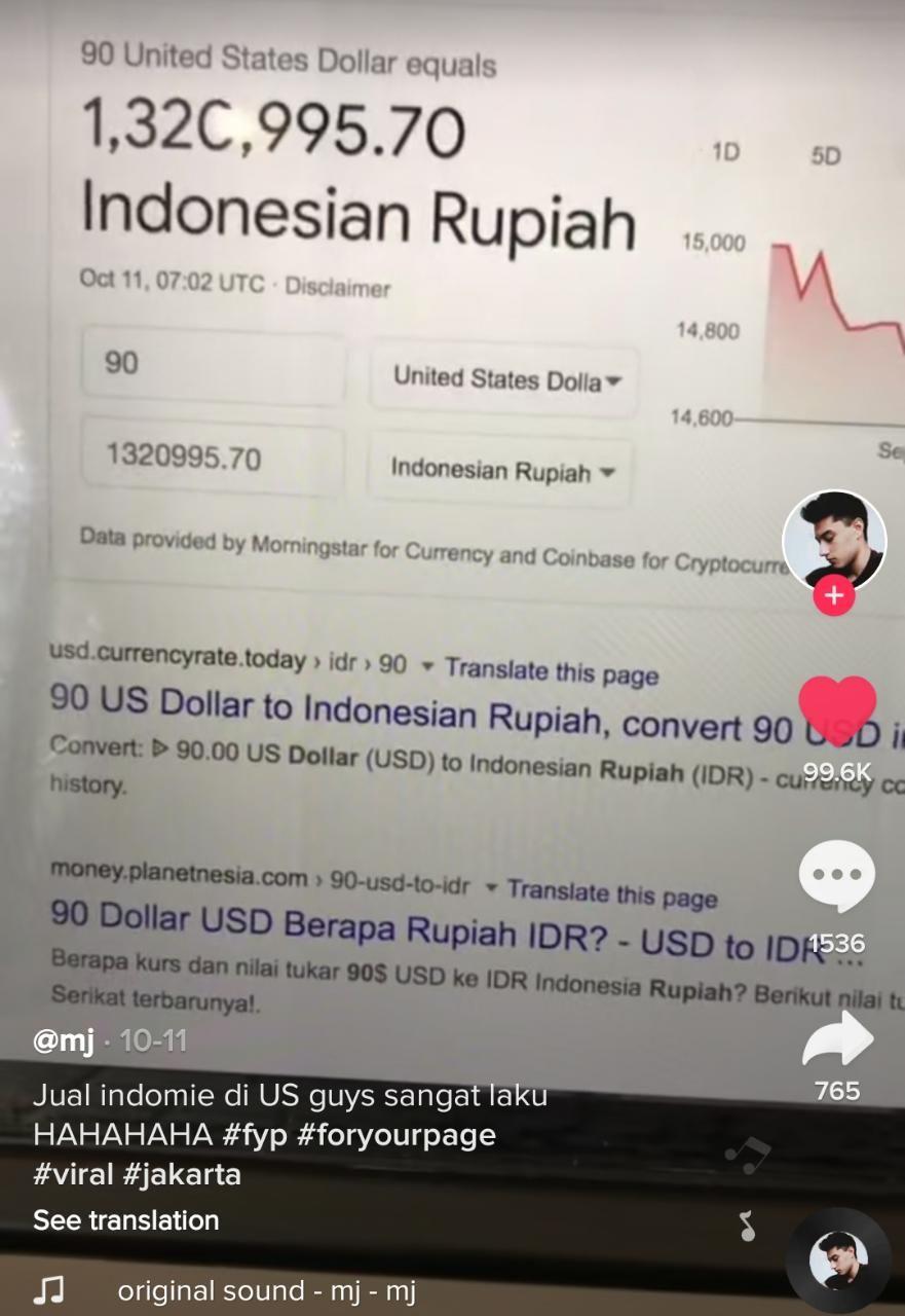 Untung Banyak! Netizen Jual Indomie di Amerika Rp 1,2 Juta