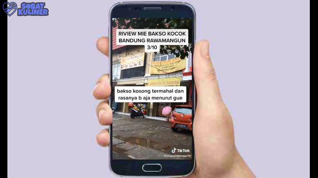 Warung Mie Bakso Sepi karena Ulah TikToker, Food Vlogger Buktikan Rasanya Enak