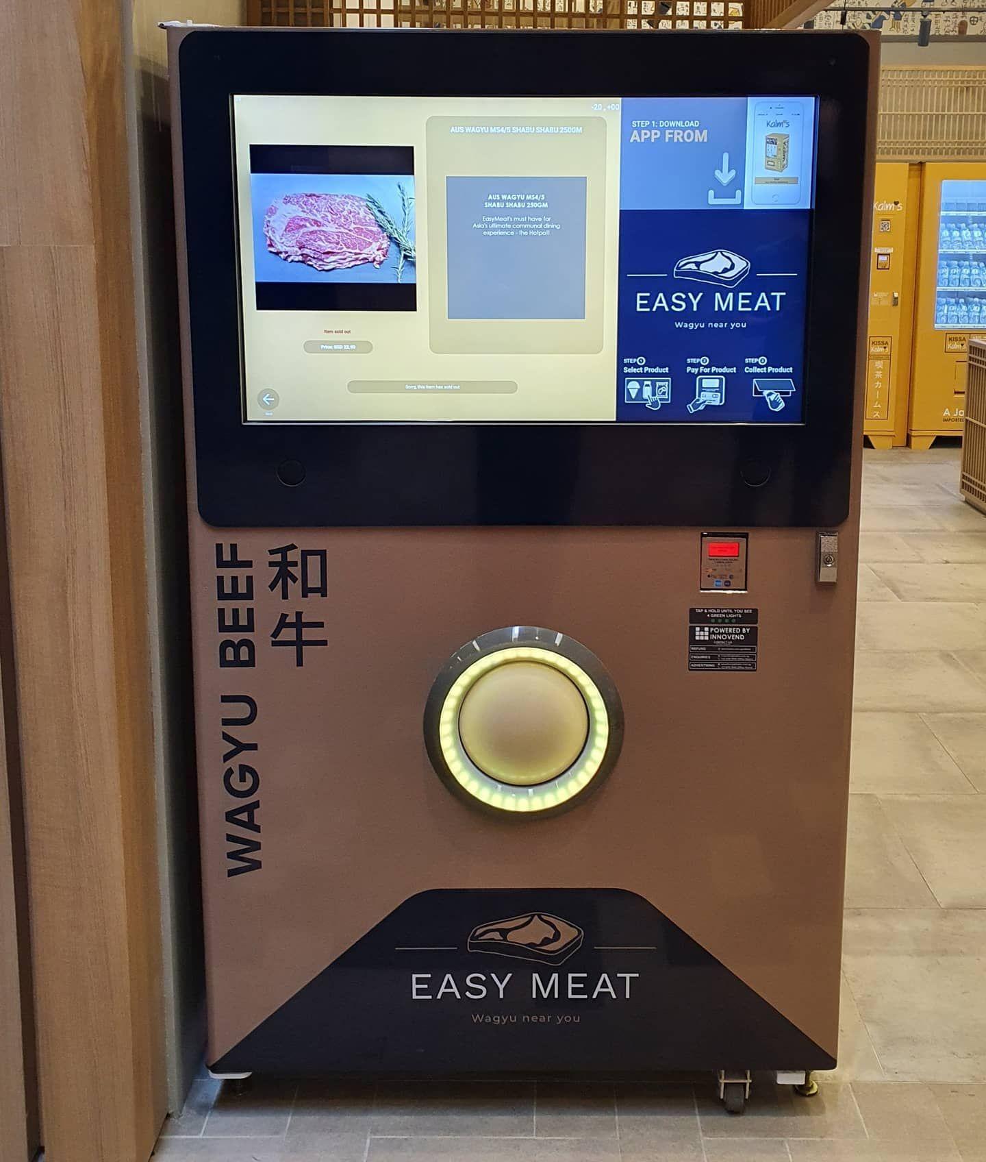 Vending Machine Sultan! Jual Wagyu Rp 1,3 Juta per Kilogram
