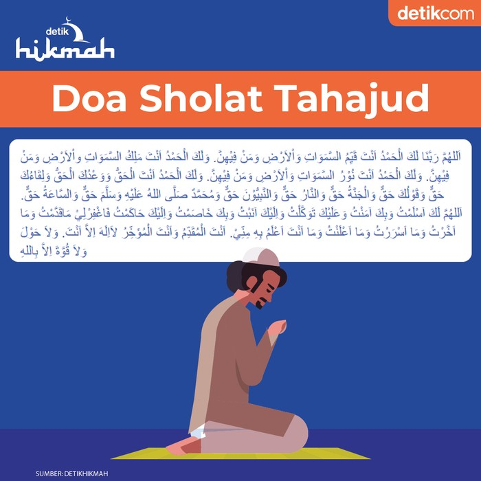 Ilustrasi doa sholat tahajud
