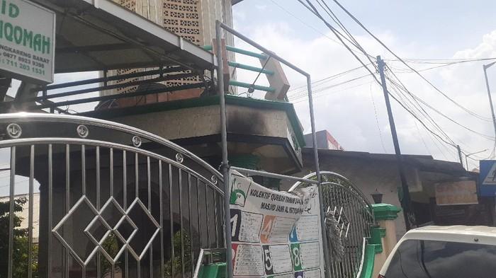 Kondisi Masjid di Cengkareng Usai Pelemparan Molotov (Afzal-detikcom)
