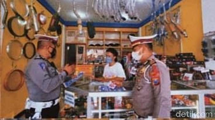 polisi lamongan sosialisasi larangan knalpot brong