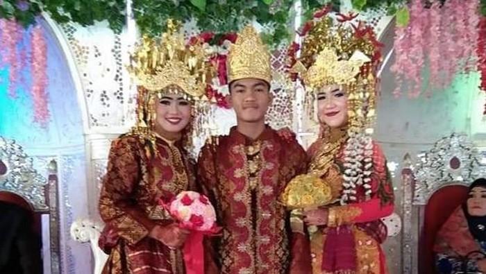 Viral pria di Musi Banyuasin, Sumsel, nikahi 2 perempuan sekaligus.