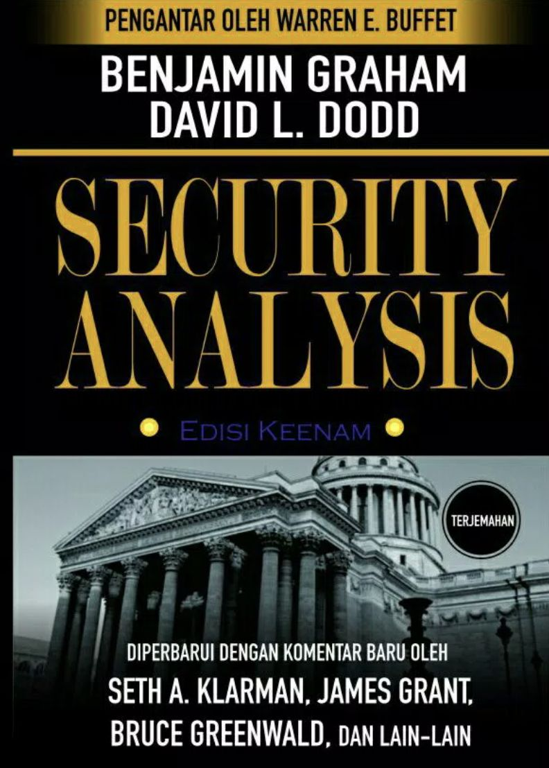 Security Analysis oleh Benjamin Graham. Ist