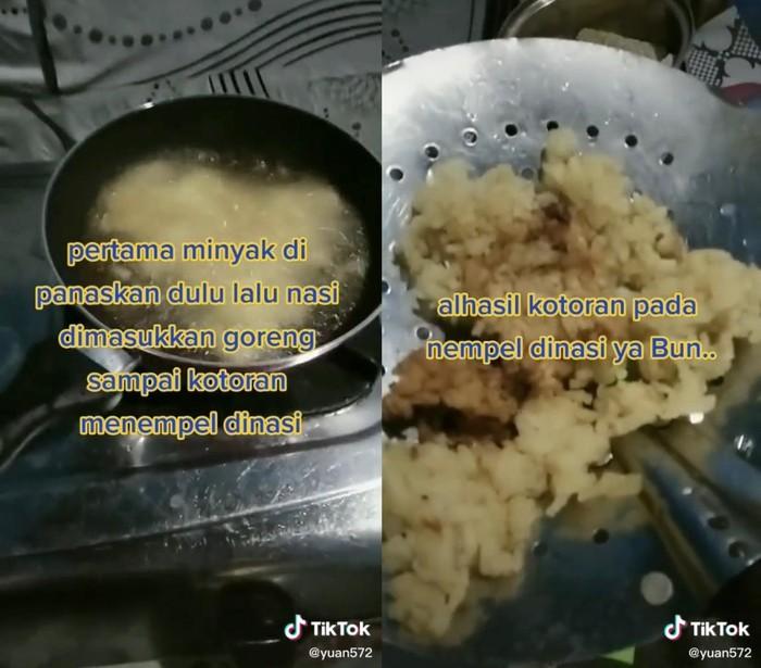 Tutorial Bersihkan Minyak Goreng Pakai Nasi Ini Malah Dikritik Netizen