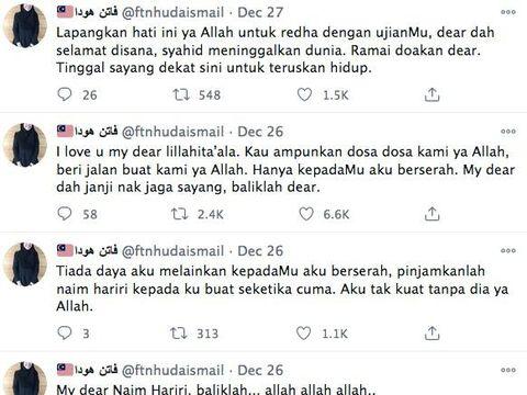 Fatin Nabilah Huda Ismail, calon pengantin ditinggal tunangan selamanya.