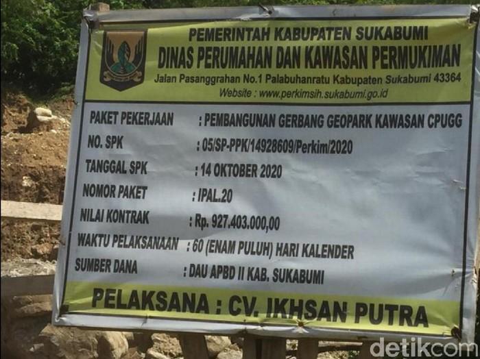 Pembangunan gerbang geopark ciletuh Sukabumi dilanjut tahun depan