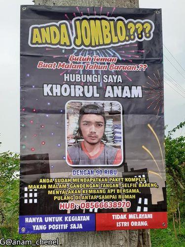 Pria asal Magelang ini viral karena mencari pasangan lewat baliho