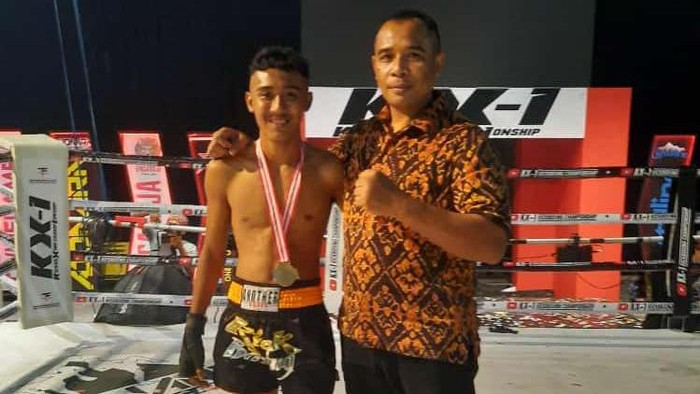 Atlet kickboxing Indonesia, Muhammad Rizki Nurohman alias Baday Kingdom.