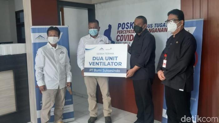 Operator Tambang Emas Banyuwangi, Sumbangkan Bantuan Ventilator untuk Satgas COVID-19