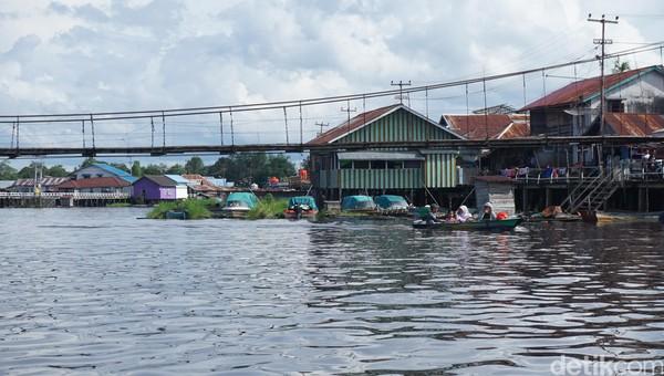 Menariknya lagi, terdapat lebih 700 spesies ikan tawar hidup di Sungai Kapuas. Ada 12 jenis ikan langka dan 40 jenis ikan yang terancam punah berenang di sungai ini.(Wahyu Setyo Widodo/detikTravel)