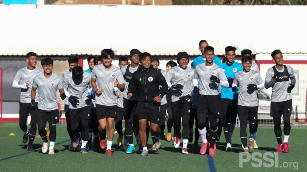 Momen Timnas U-19 Latihan di Spanyol
