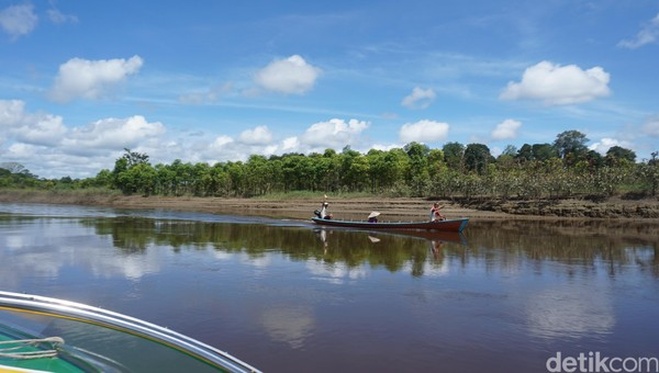 Saking bangganya warga Kalbar dengan Sungai Kapuas, logo Pemkot Pontianak berbentuk Sungai Kapuas lho. Coba perhatiin deh, seperti huruf Y terbalik kan itu? Itu menunjukan sungai. (Wahyu Setyo Widodo/detikTravel)