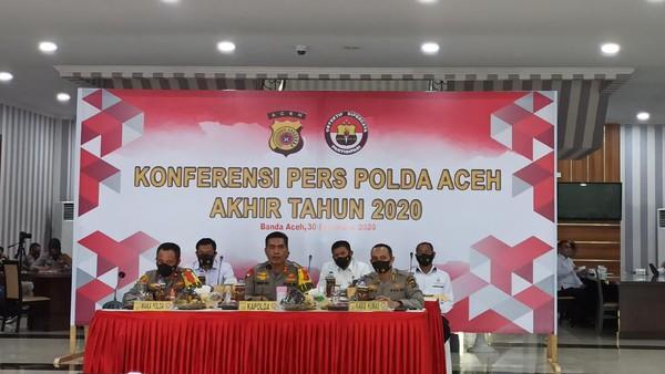 Konferensi pers di Polda Aceh (Agus Setyadi-detikcom)