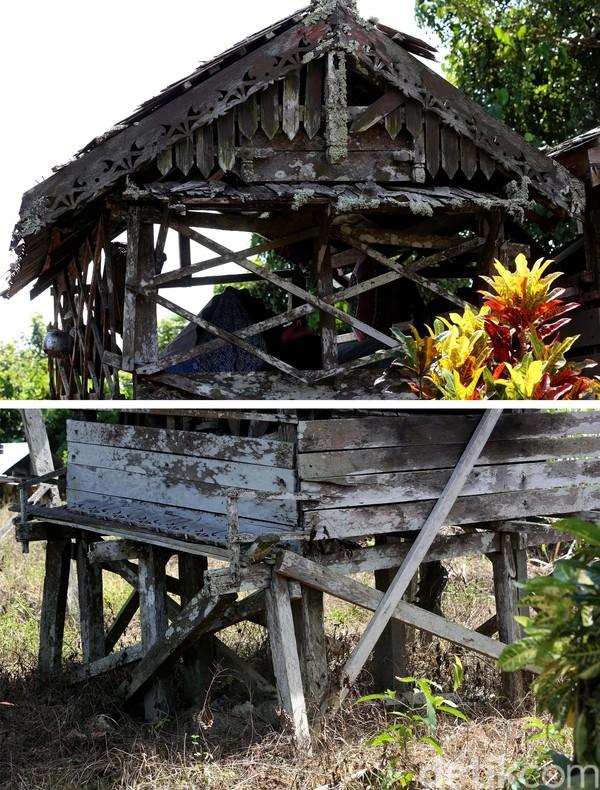 Beginilah kondisi terkini Rumah Mayat (Kulambu) yang sangat memprihatinkan. Ada atapnya yang sudah rapuh dan rusak, ada juga kayu tumpuan atau pondasi kaki yang mulai reyot.