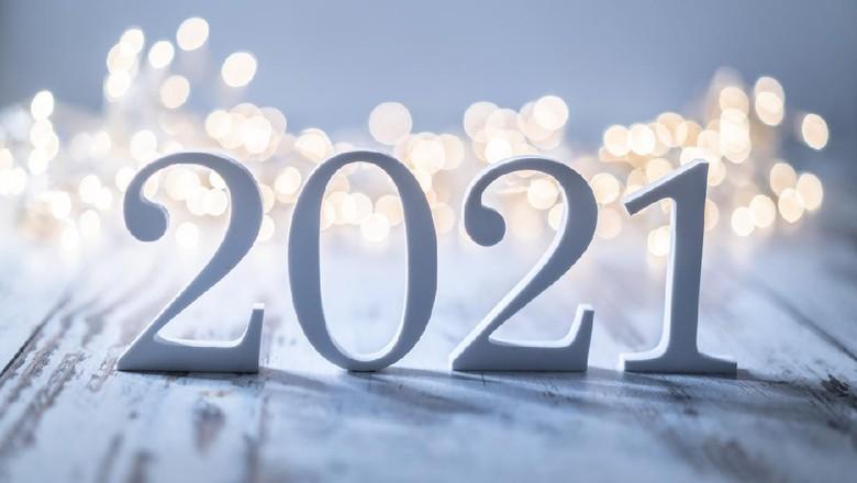 2021 and Christmas decoration