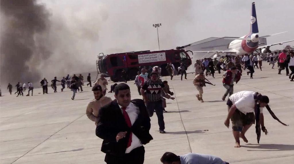 Aksi Teroris Tewaskan 26 Orang di Bandara Aden, PM Yaman Bereaksi