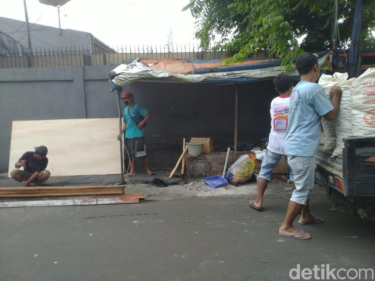 Pos Keamanan 3 Pilar akan dibangun di dekat eks markas FPI di Petamburan, Jakarta. (Foto: Tim detikcom)