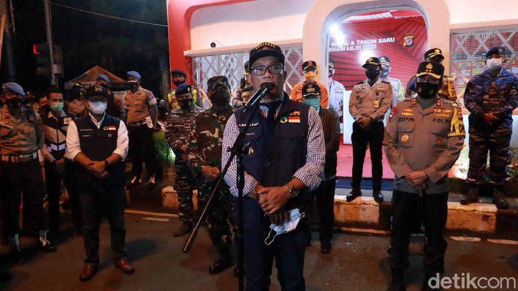 Ridwan Kamil Tinjau Kota Bandung di Malam Pergantian Tahun