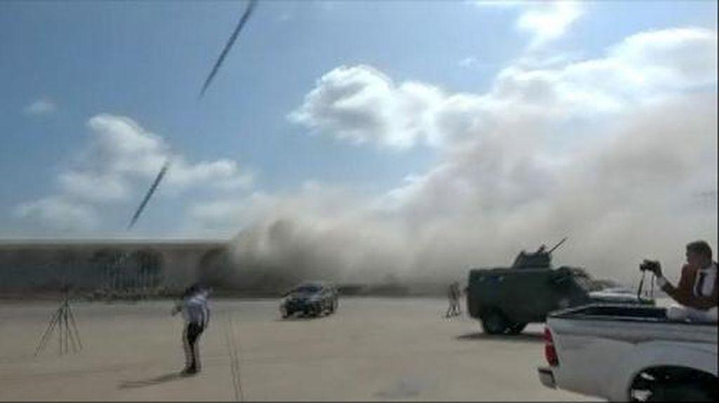Kondisi Bandara Yaman Usai Terjadi Ledakan