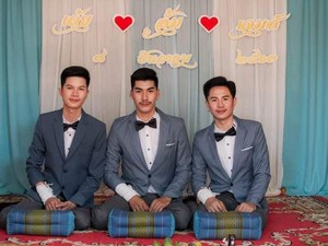 Viral Jadi Kontroversi, 3 Pria Thailand Saling Menikah dan Direstui Keluarga