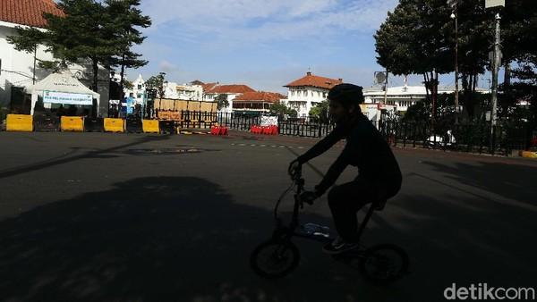 Kawasan Kota Tua, Jakarta Barat masih menjadi primadona tujuan wisata untuk mengisi liburan.