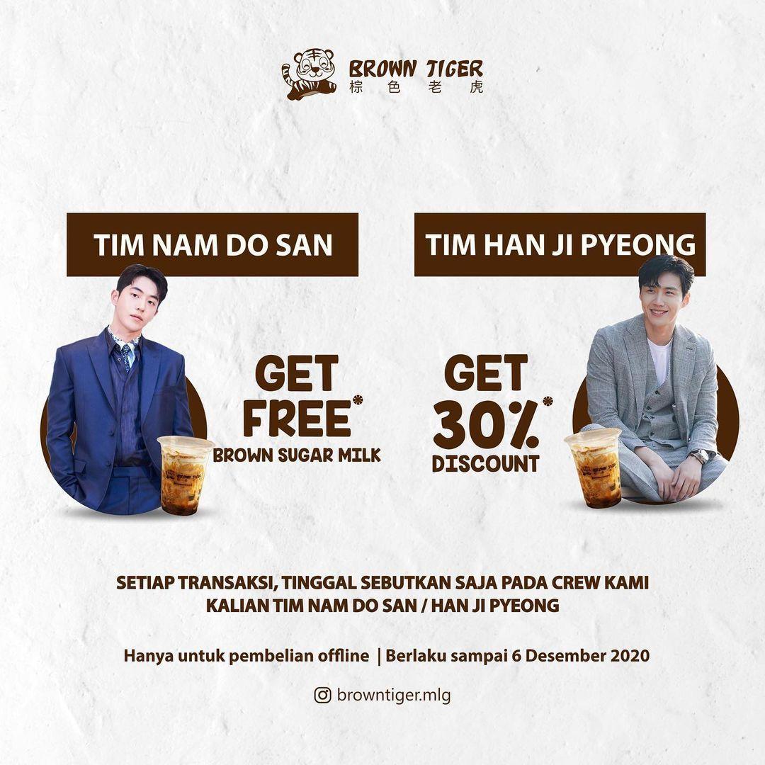 Gerai Boba Punya Promo untuk Tim Nam Do San dan Han Ji Pyong 'Start Up'
