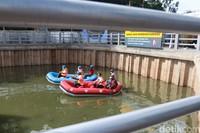 Fungsi utama kolam ini jadi tempat tampungan air hujan dan meminimalisir banjir yang kerap terjadi di kawasan tersebut. (Wisma Putra/detikcom)