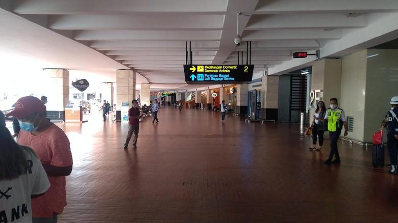 Suasana Bandara Soekarno-Hatta Minggu (3/1/2021) pukul 10.09 WIB. (Foto: Adhyasta Dirgantara/detikcom)