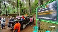 Trek downhill Palutungan memiliki panjang sekitar 2 kilometer. (Bima Bagaskara/detikcom)