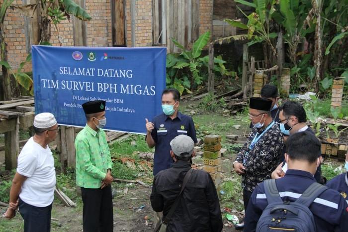 BPH Migas telah melakukan survei lapangan rencana pembangunan 6 lokasi sub penyalur BBM Pondok Pesantren Al Ittifaqiah, Ogan Ilir, Sumatera Selatan.