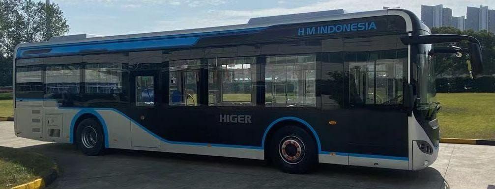 Bus listrik Higer yang diuji coba Transjakarta